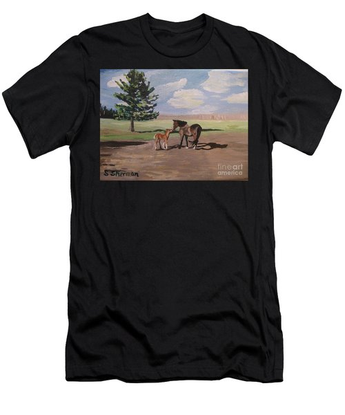 Springtime Foal Men's T-Shirt (Athletic Fit)