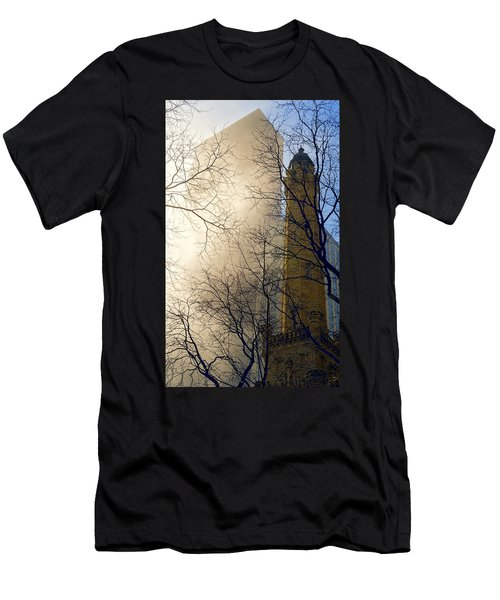 Men's T-Shirt (Athletic Fit) featuring the photograph Springtime In Chicago by Steven Sparks