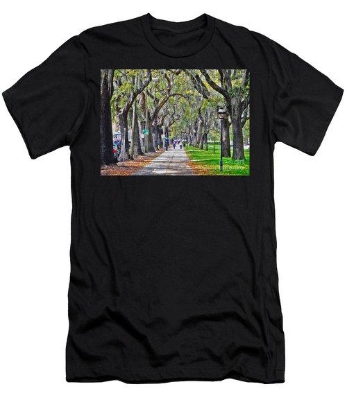 Springtime In Savannah Men's T-Shirt (Slim Fit) by Lydia Holly
