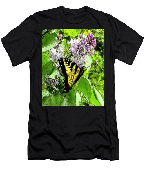 Springtime Moments- The Butterfly And The Lilac  Men's T-Shirt (Athletic Fit)