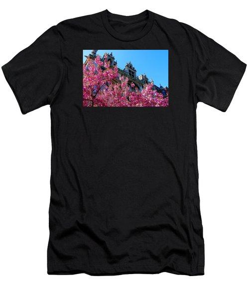 Springtime On Commonwealth Avenue Men's T-Shirt (Athletic Fit)