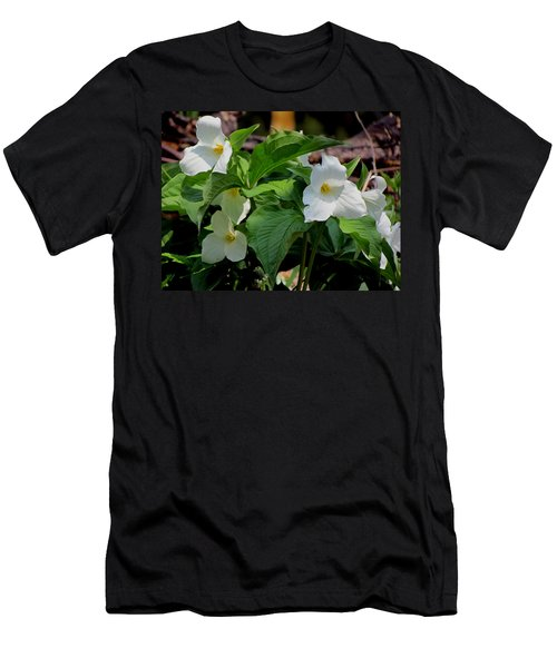 Springtime Trillium Men's T-Shirt (Athletic Fit)