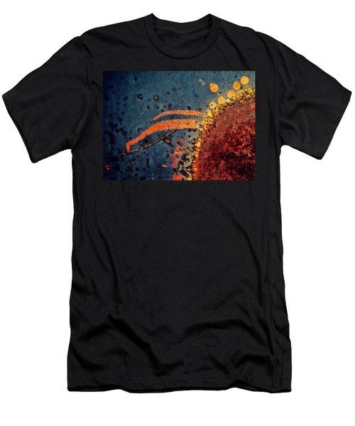 Sputter Men's T-Shirt (Slim Fit) by Leanna Lomanski
