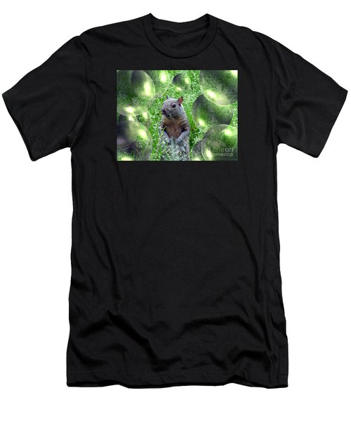 Squirrel In Bubbles Men's T-Shirt (Athletic Fit)