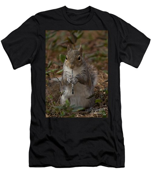 Squirrel With His Obo Men's T-Shirt (Athletic Fit)