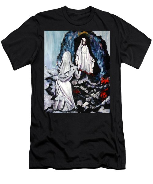St. Bernadette At The Grotto Men's T-Shirt (Athletic Fit)