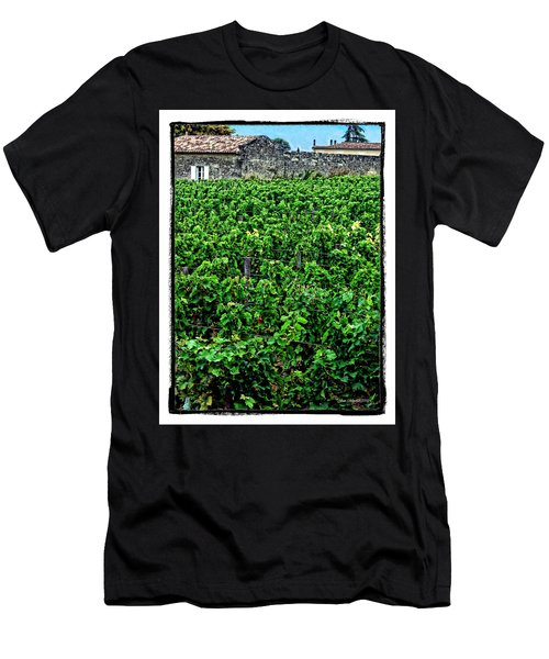 Men's T-Shirt (Slim Fit) featuring the photograph St. Emilion Winery by Joan  Minchak