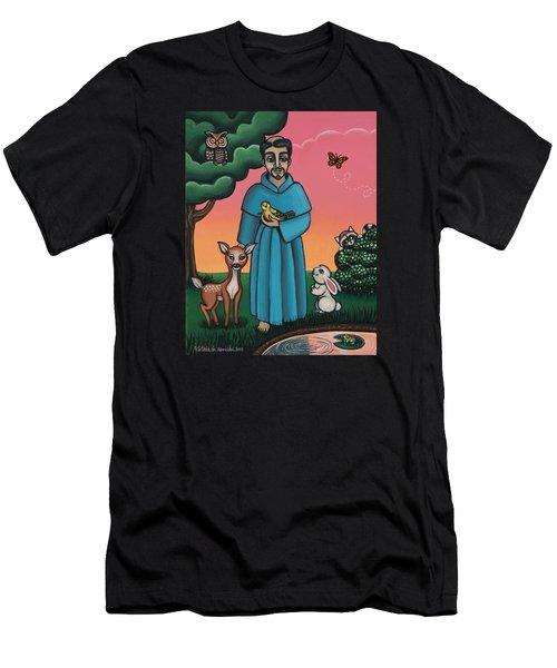 St. Francis Animal Saint Men's T-Shirt (Athletic Fit)