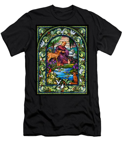 St. Francis Of Assisi Men's T-Shirt (Slim Fit)