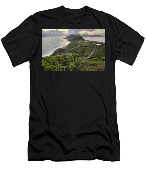 St Kitts Overlook Men's T-Shirt (Athletic Fit)