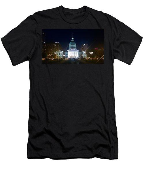St. Louis At Night Men's T-Shirt (Slim Fit) by Chris Tarpening