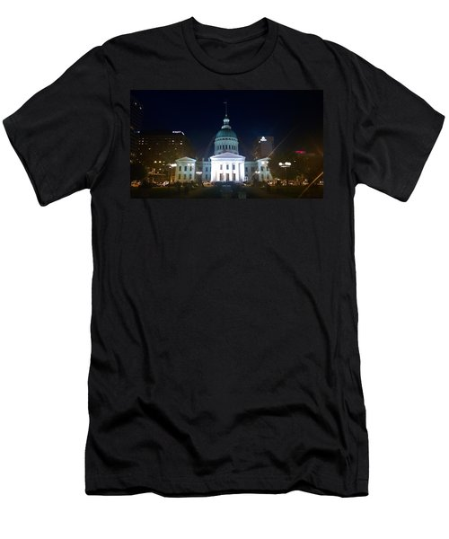 St. Louis At Night Men's T-Shirt (Athletic Fit)