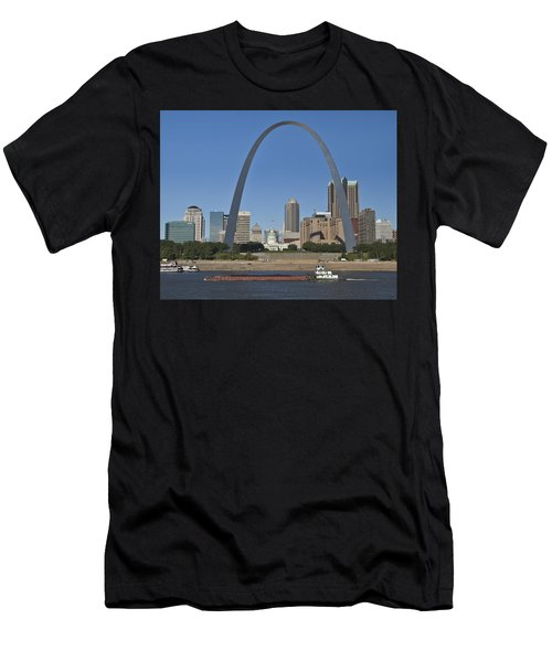 St Louis Skyline Men's T-Shirt (Athletic Fit)