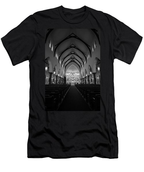 St Patricks Cathedral Fort Worth Men's T-Shirt (Athletic Fit)