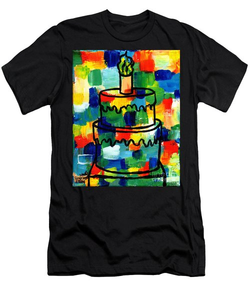 Stl250 Birthday Cake Abstract Men's T-Shirt (Slim Fit) by Genevieve Esson