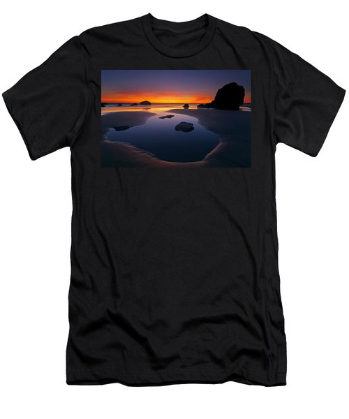 Men's T-Shirt (Slim Fit) featuring the photograph Stacks And Stones by Mike  Dawson
