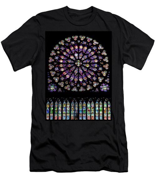 Stained Glass At Notre Dame Men's T-Shirt (Athletic Fit)