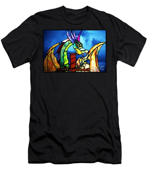 Stained Glass Dragon Men's T-Shirt (Athletic Fit)