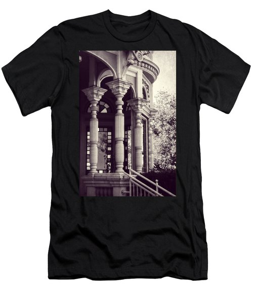 Men's T-Shirt (Slim Fit) featuring the photograph Stained Glass Memories by Melanie Lankford Photography