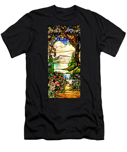 Stained Glass No Border Men's T-Shirt (Slim Fit) by Kristin Elmquist
