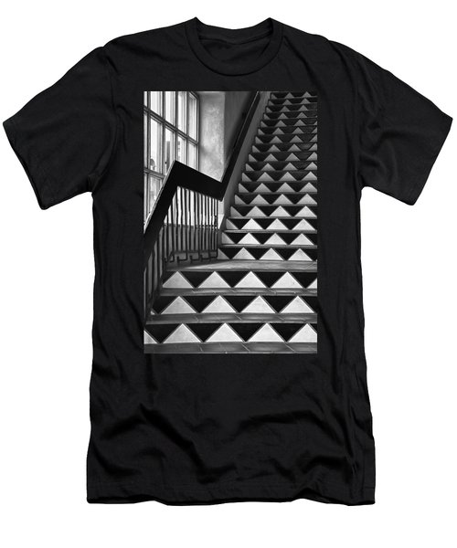 Men's T-Shirt (Slim Fit) featuring the photograph Staircase Santa Fe New Mexico by Ron White