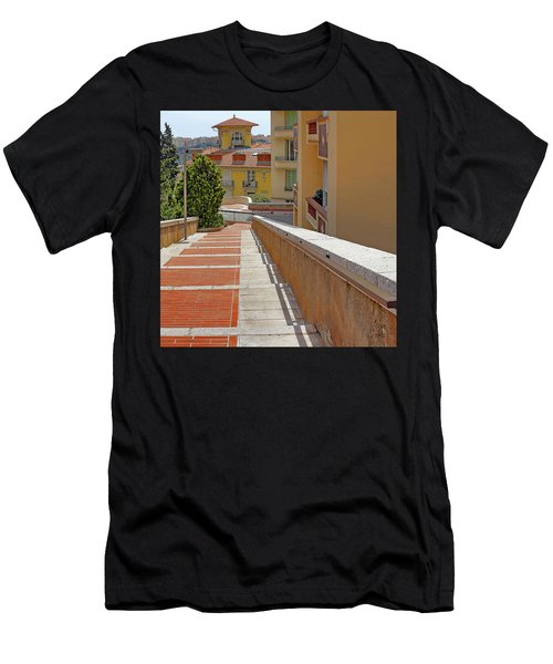 Stairway In Monaco French Riviera Men's T-Shirt (Athletic Fit)