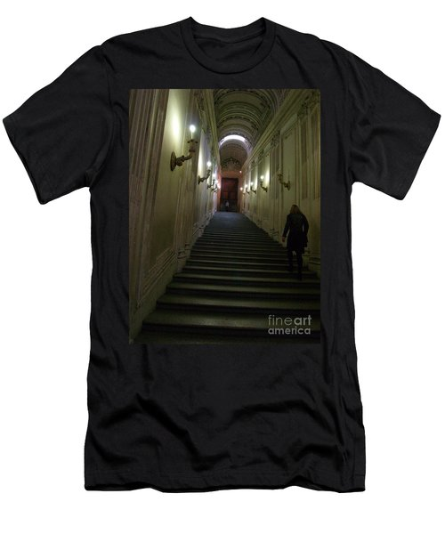 Men's T-Shirt (Slim Fit) featuring the photograph Stairway  by Robin Maria Pedrero
