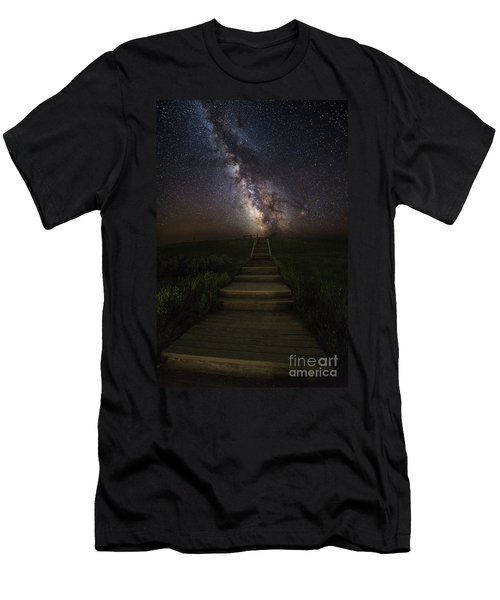 Stairway To The Galaxy Men's T-Shirt (Athletic Fit)