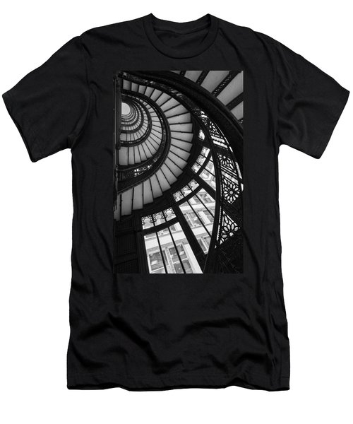 Stairwell The Rookery Chicago Il Men's T-Shirt (Athletic Fit)