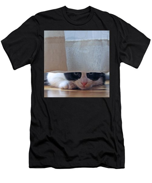 Men's T-Shirt (Slim Fit) featuring the pyrography Stalking Me by Shoal Hollingsworth