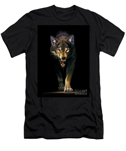 Stalking Wolf Men's T-Shirt (Athletic Fit)