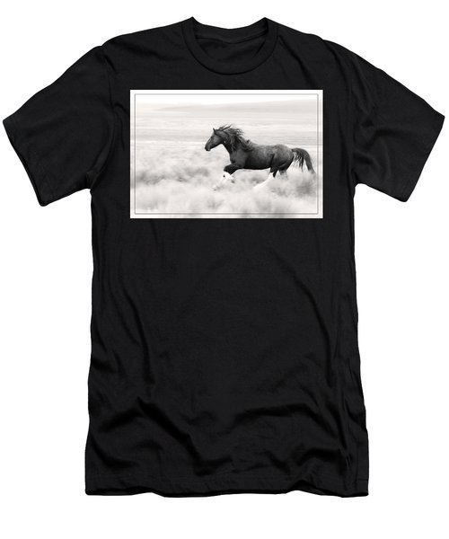 Stallion Blur Men's T-Shirt (Athletic Fit)