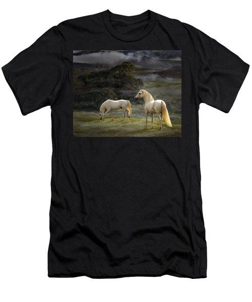 Stallions Of The Gods Men's T-Shirt (Slim Fit) by Melinda Hughes-Berland