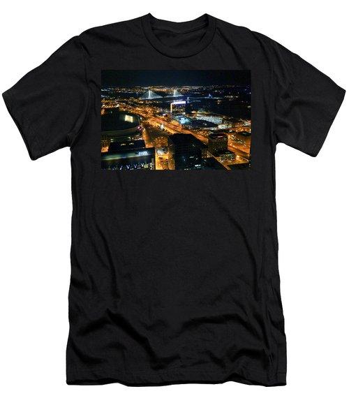 Stan Musial Bridge In St Louis Mo Dsc03215 Men's T-Shirt (Slim Fit) by Greg Kluempers