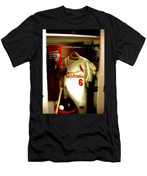 Stan The Man's Locker Stan Musial Men's T-Shirt (Slim Fit) by Iconic Images Art Gallery David Pucciarelli
