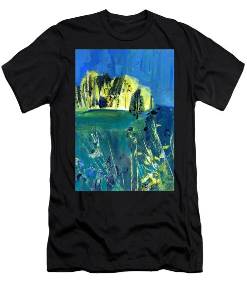 Stand Of Trees In Distance Men's T-Shirt (Athletic Fit)