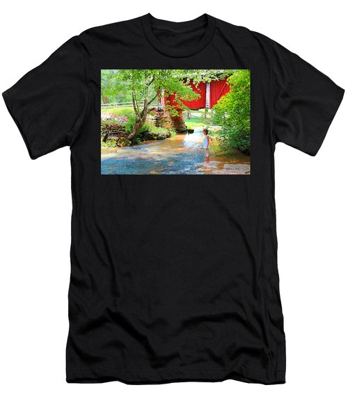 Standing By The River At Campbell's Bridge Men's T-Shirt (Athletic Fit)