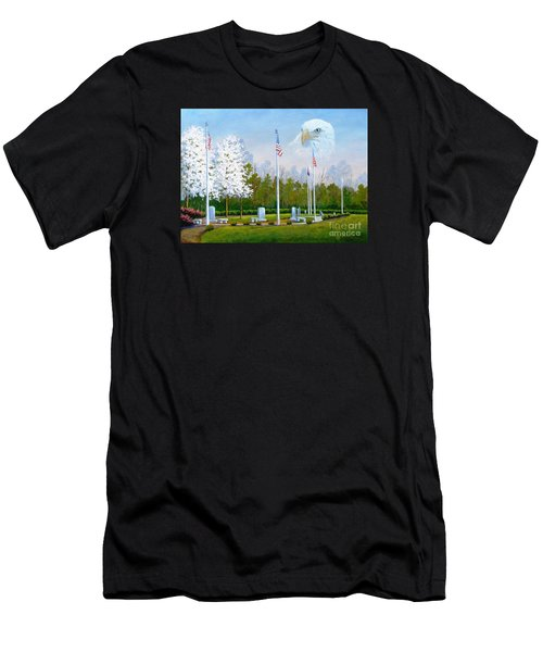 Standing Guard Over Veterans Park Men's T-Shirt (Athletic Fit)