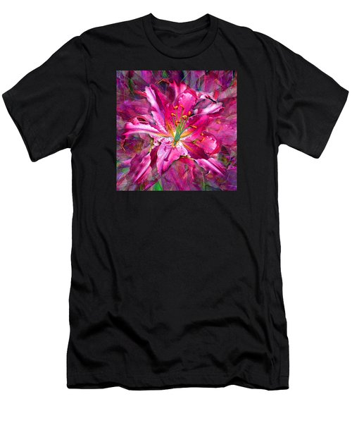 Star Gazing Stargazer Lily Men's T-Shirt (Athletic Fit)