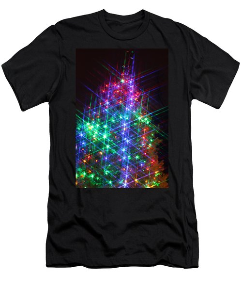 Men's T-Shirt (Slim Fit) featuring the photograph Star Like Christmas Lights by Patrice Zinck