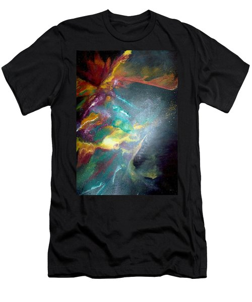 Men's T-Shirt (Slim Fit) featuring the painting Star Nebula by Carrie Maurer