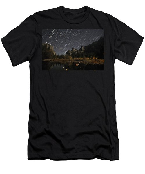 Star Trails Over Yosemite Men's T-Shirt (Athletic Fit)