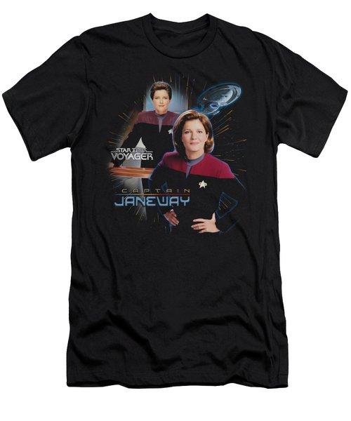 Star Trek - Captain Janeway Men's T-Shirt (Athletic Fit)