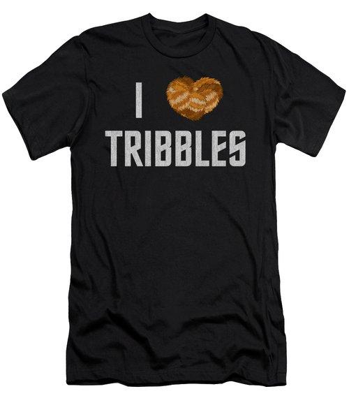 Star Trek - I Heart Tribbles Men's T-Shirt (Athletic Fit)