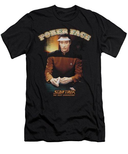Star Trek - Poker Face Men's T-Shirt (Athletic Fit)