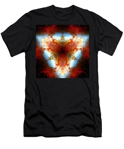 Starburst Galaxy M82 Vi Men's T-Shirt (Athletic Fit)