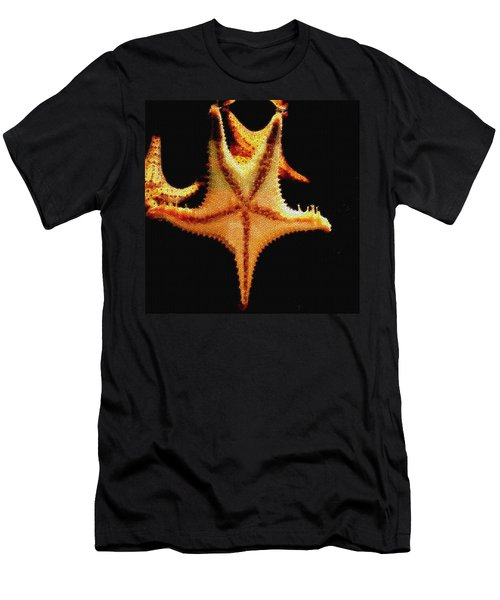 Men's T-Shirt (Slim Fit) featuring the photograph Starfish In Mosaic by Janette Boyd