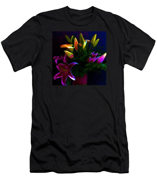 Men's T-Shirt (Slim Fit) featuring the photograph Stargazer Bouquet by Carolyn Repka