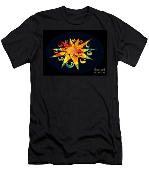 Staring Into Eternity Abstract Stars And Circles Men's T-Shirt (Athletic Fit)