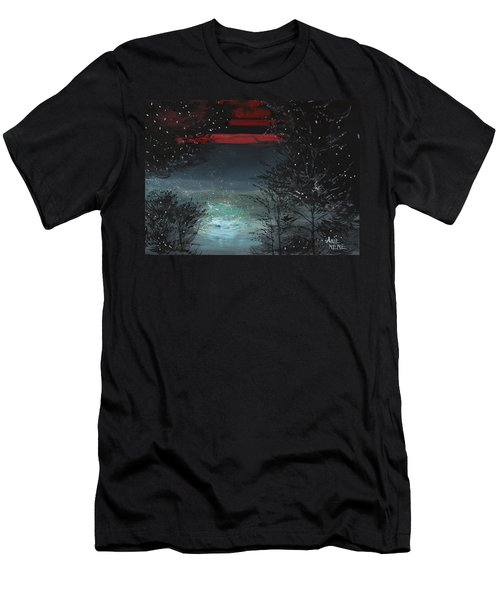Starry Night Men's T-Shirt (Slim Fit) by Anil Nene